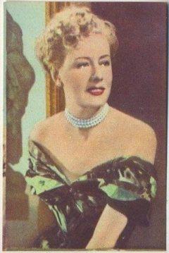 Irene Dunne 1951 Artisti del Cinema Trading Card