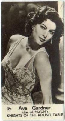 Ava Gardner 1952 Watford Trading Card