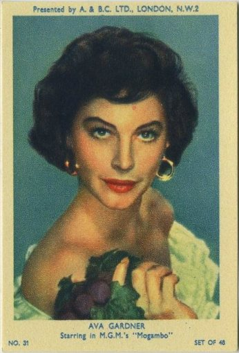 Ava Gardner 1953 A and BC Trading Card