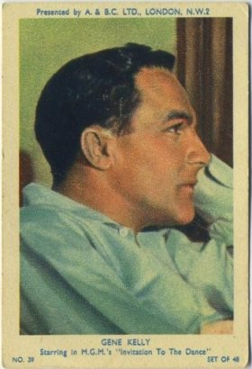 Gene Kelly 1953 A and BC Trading Card
