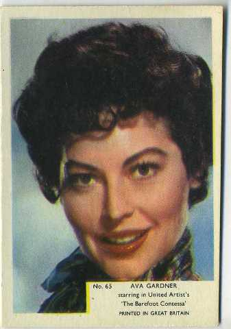 Ava Gardner 1955 Kane Products Trading Card