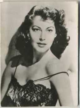 Ava Gardner 1955 Woman's Own Magazine Trading Card