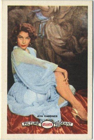 Ava Gardner 1958 Atlantic Trading Card