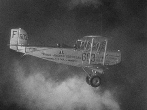 Gable's Plane in Night Flight