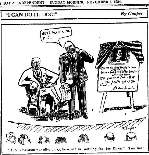 1924 political cartoon by Gary Cooper
