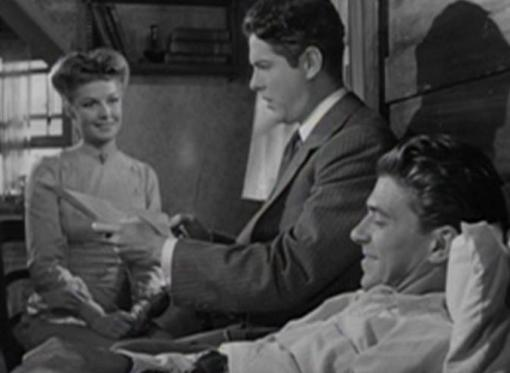 Ann Sheridan, Robert Cummings and Ronald Reagan