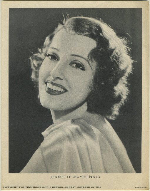 Jeanette MacDonald October 4 1936 M23 Philadelphia Record Supplement