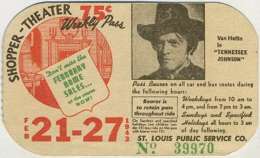 Van Heflin Tennessee Johnson bus pass