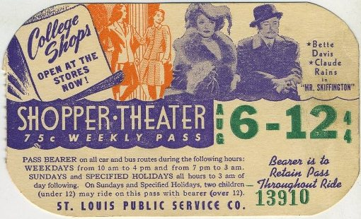 Mr Skeffington St Louis area Bus Pass