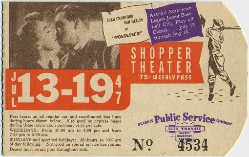 Van Heflin and Joan Crawford bus pass