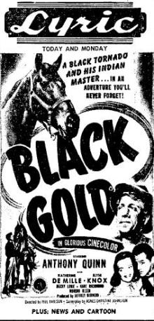 Black Gold 1952 newspaper ad
