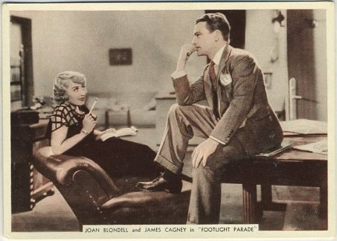 Joan Blondell and James Cagney tobacco card