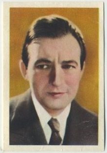 Claude Rains 1936 Nestles trading card