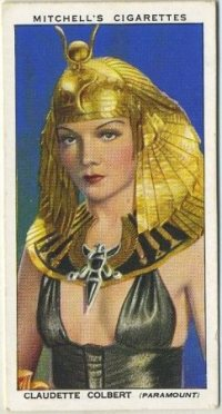 Claudette Colbert 1939 Mitchell Tobacco Card