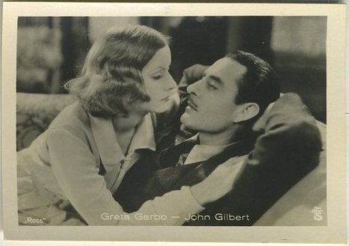 Greta Garbo and John Gilbert 1930s A Batschari German tobacco card