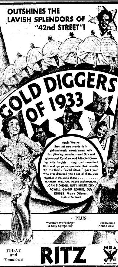 Gold Diggers of 1933 advertisement