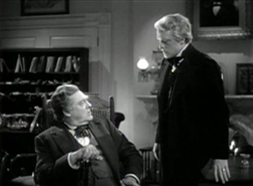 Lionel Barrymore and Van Heflin