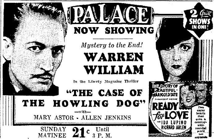 The Case of the Howling Dog advertisement