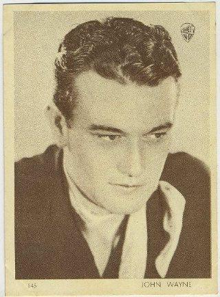 John Wayne 1930s Aguila Trading Card
