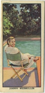 Johnny Weissmuller 1939 Mars Confections trading card