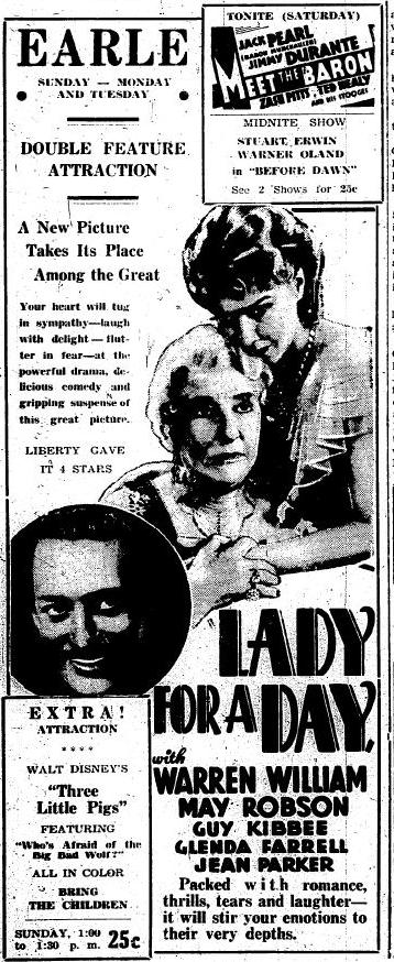 Lady for a Day advertisement