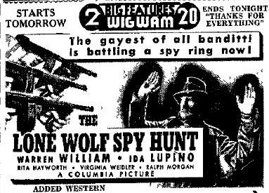 The Lone Wolf Spy Hunt advertisement
