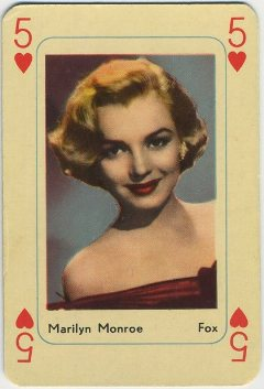 Marilyn Monroe 1950s Maple Leaf Playing Card