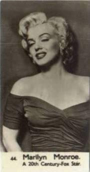 Marilyn Monroe 1952 Watford Trading Card