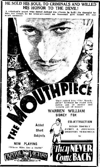 The Mouthpiece advertisement