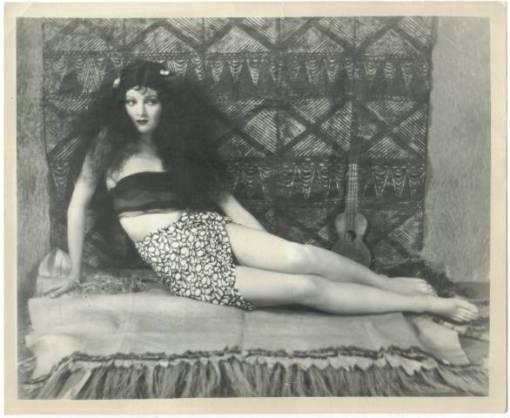 Myrna Loy pictured on a 1926 promotional still photo