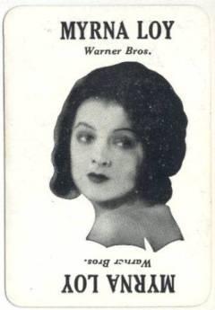 Myrna Loy 1929 Movie Land Keeno Game Card