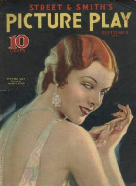 Myrna Loy on cover of Picture Play, September 1931 issue