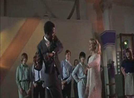 Sidney Poitier and Judy Geeson