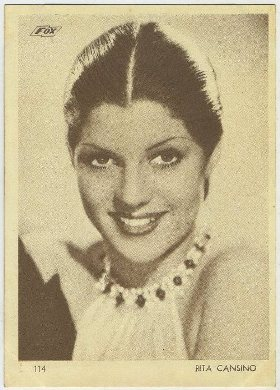 Rita Cansino 1930s Aguila Trading Card from Uruguay