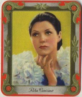 Rita Cansino 1930s Garbaty Tobacco Card