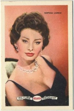 Sophia Loren 1958 Atlantic Oil Trading Card