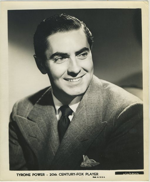 Tyrone Power 1940s Fox Promotional Still