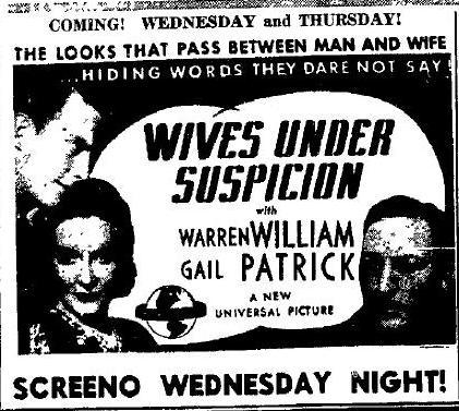 Wives Under Suspicion advertisement
