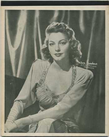 Ava Gardner 1940s Writing Tablet Cover