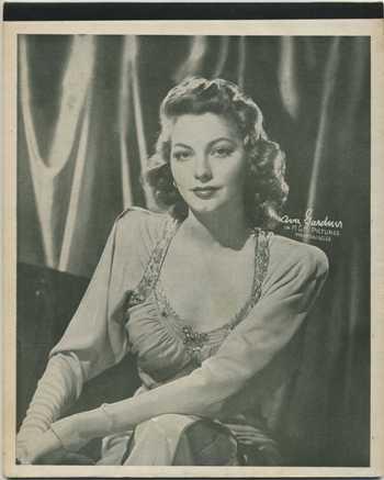 Ava Gardner 1940s Writing Tablet Cover