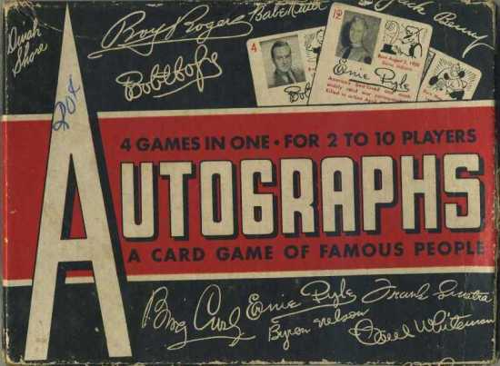 1945 Leister Company Autographs Card Game Box