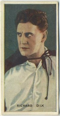 Richard Dix 1927 Amalgamated Press Trading Card