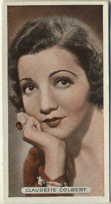 Claudette Colbert 1934 Ardath tobacco card