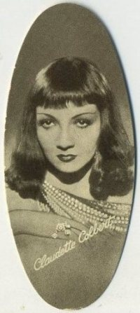 Claudette Colbert 1934 Carreras tobacco Card