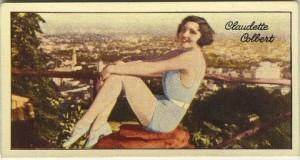 Claudette Colbert 1935 Carreras Tobacco Card