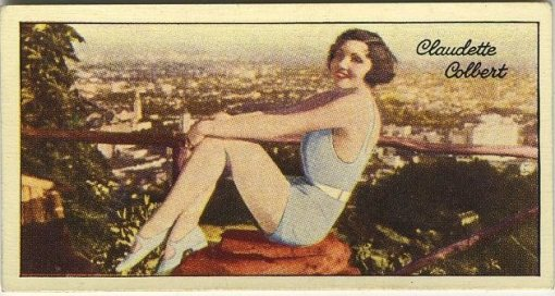 Claudette Colbert 1935 Carreras Tobacco Card