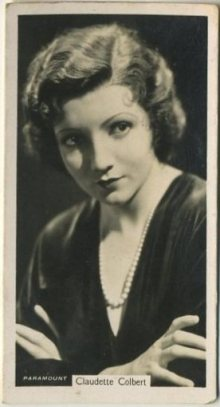 Claudette Colbert 1937 John Sinclair Tobacco Card