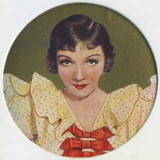 Claudette Colbert 1939 Rothmans Beauties tobacco card