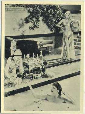 Claudette Colbert in Sign of the Cross on 1940 Cinema Cavalcade Tobacco Card