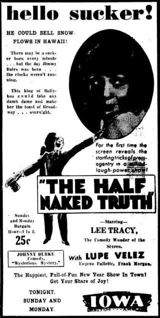 ad for The Half Naked Truth